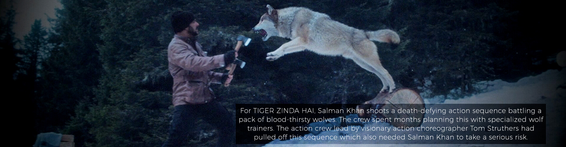 Salman Khan shoots a death-defying action sequence battling a pack of blood-thirsty wolves