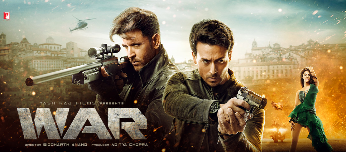 Hrithik Roshan, Tiger Shroff and Vaani Kapoor in WAR