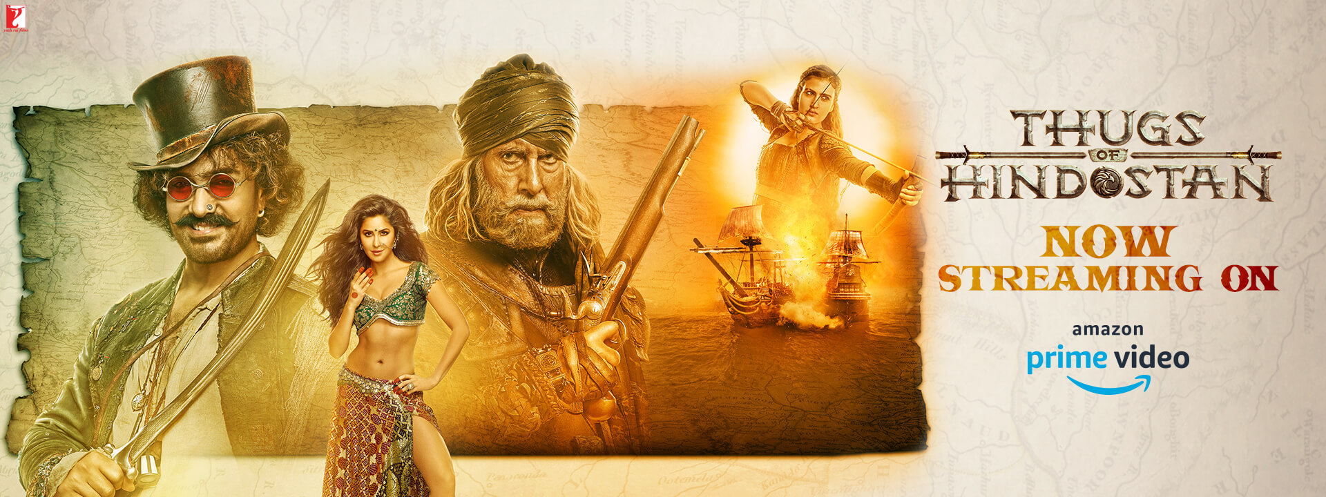 THUGS OF HINDOSTAN - Amitabh Bachchan, Aamir Khan, Katrina Kaif, Fatima Sana Shaikh - In Cinemas Now