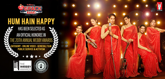 HUM HAIN HAPPY SELECTED AS AN OFFICIAL HONOREE BY WEBBY AWARDS!