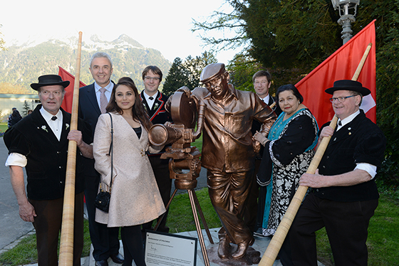 Yash Chopra Statue in Switzerland