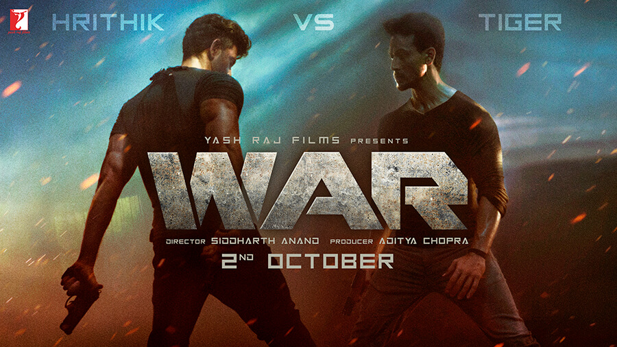 Hrithik Roshan and Tiger Shroff in WAR