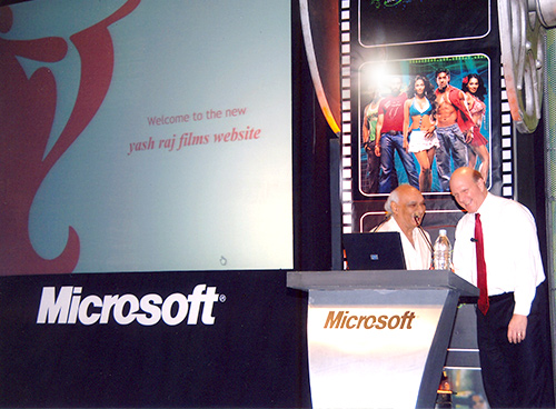 Microsoft CEO launches the revamped Yash Raj Films Website
