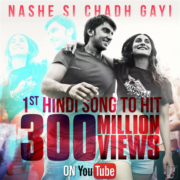 'Nashe Si Chadh Gayi' Becomes the First Hindi Song to Surpass 300 Million Views on YouTube