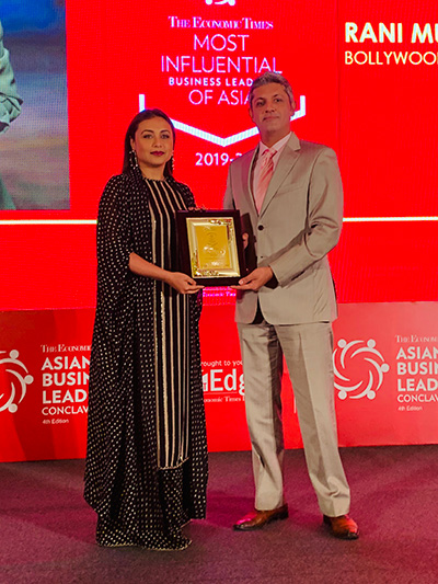 Rani wins Most Influential Cinema Personality Award in South-east Asia!
