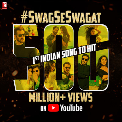 Swag Se Swagat becomes the first Indian song to hit 500 Million Views
